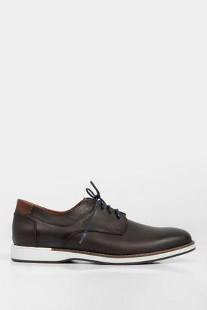 Zapatos cordón de cuero casual