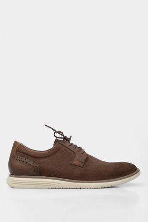 Zapatos cordón Derby gamuza