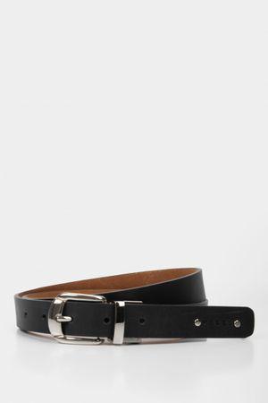 Cinturón doble faz de cuero liso