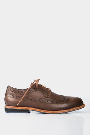 Zapatos cordón Oxford de cuero perforados
