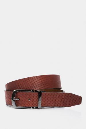 Cinturón doble faz de cuero perforado