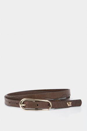 Cinturón unifaz mila de cuero grabado croco
