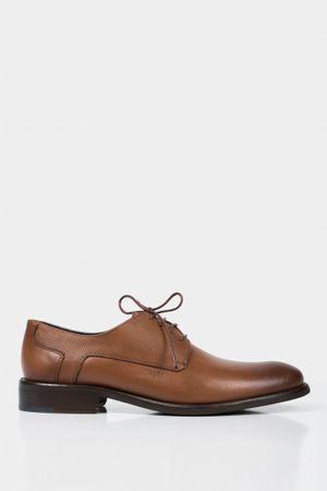 Zapatos cordón formal de cuero liso