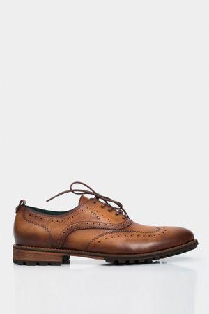 Zapatos cordón casual de cuero perforados