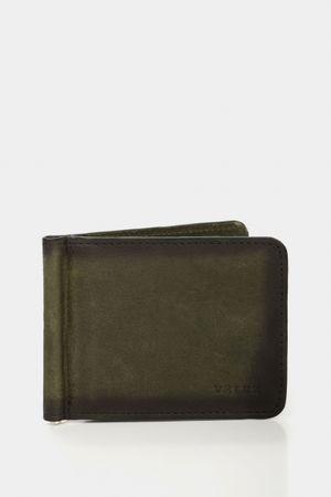 Porta billetes oder de cuero para hombre envejecido manual