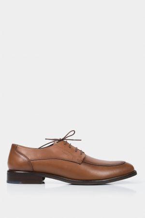 Zapatos cordón formal de cuero para hombre efecto envejecido
