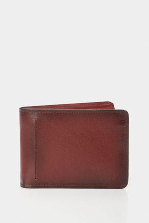 Billetera mikeno de cuero para hombre vintage